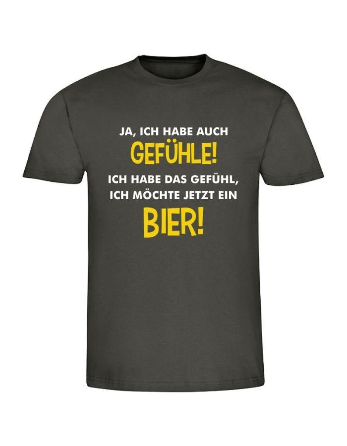 """T-Shirt """"Ich möchte jetzt ein Bier"""" - Herren"""