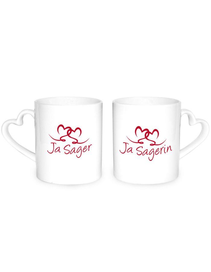 """Herz-Tassen """"Ja-Sager/in"""""""