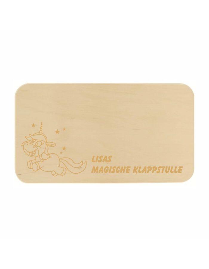 """Frühstücksbrett """"magische Klappstulle"""" - personalisiert"""