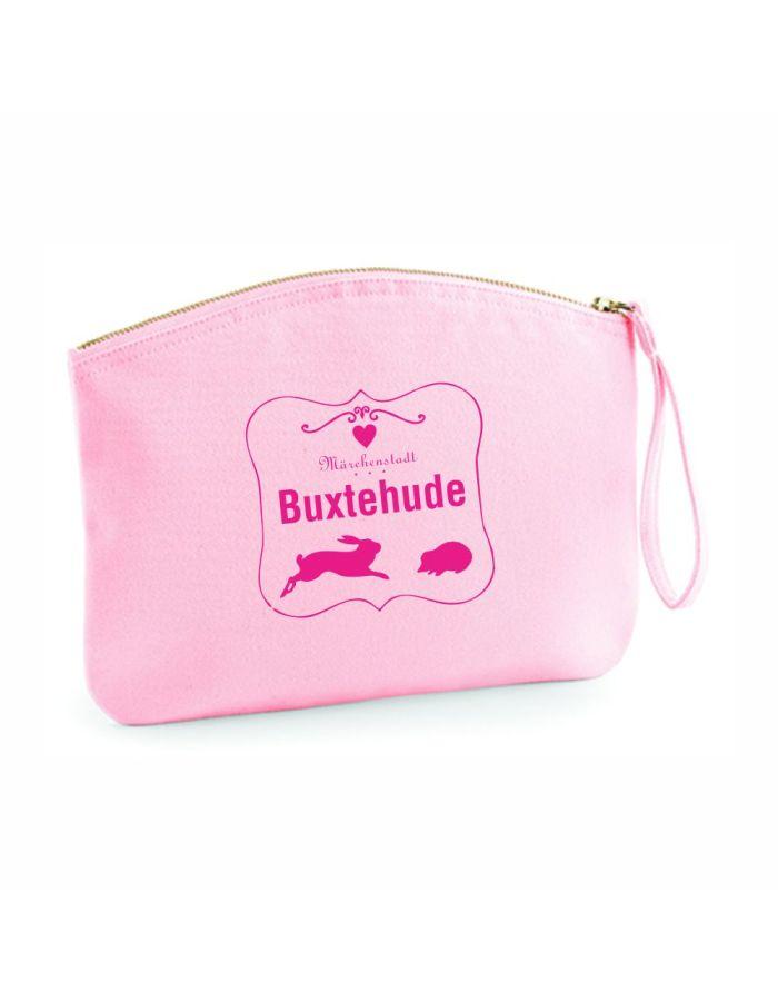 "Kulturtasche ""Märchenstadt Buxtehude - mit Rahmen"" -rosa"