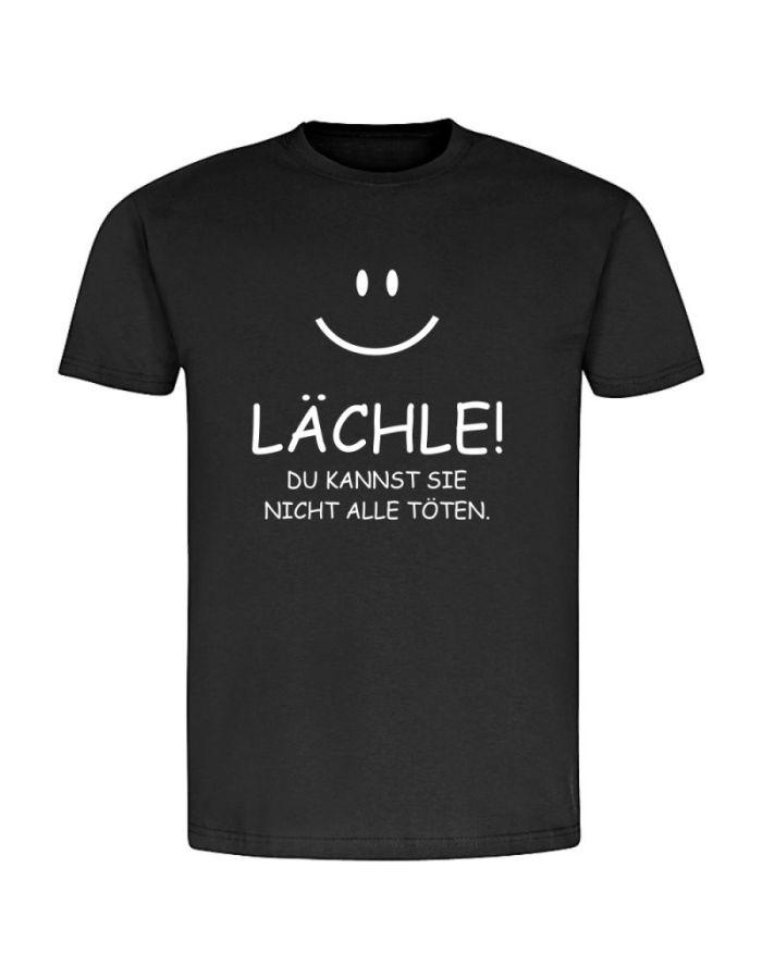 """T-Shirt """"Lächle! Du kannst sie nicht alle töten"""" - Herren"""