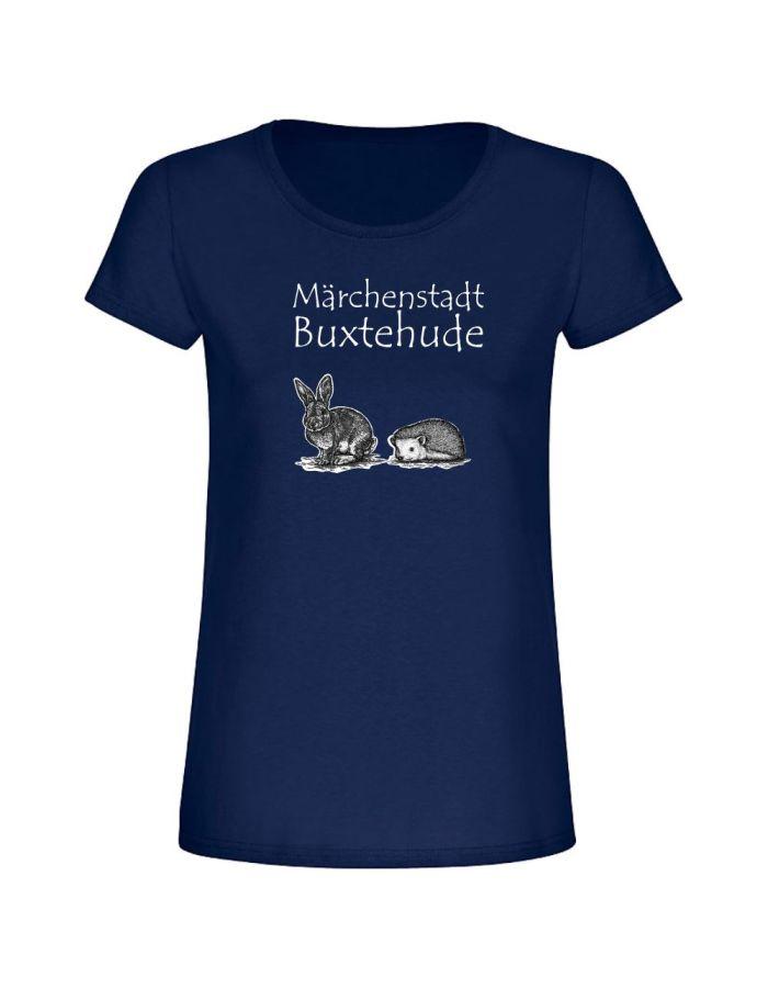 "T-Shirt ""Märchenstadt Buxtehude + Hase & Igel"" - Damen"