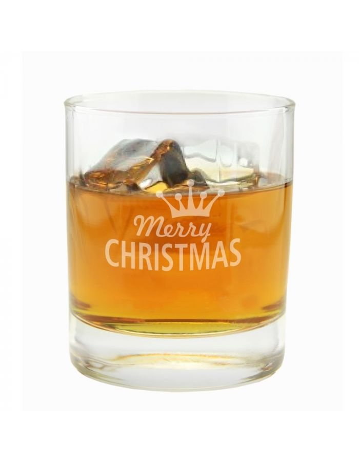 "Whiskyglas ""Merry Christmas"" (Krone)"