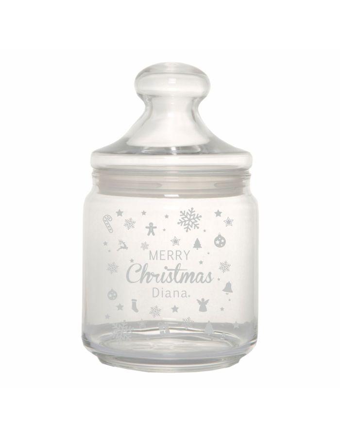 """Keksglas / Bonbonglas """"Merry Christmas"""" - personalisiert"""