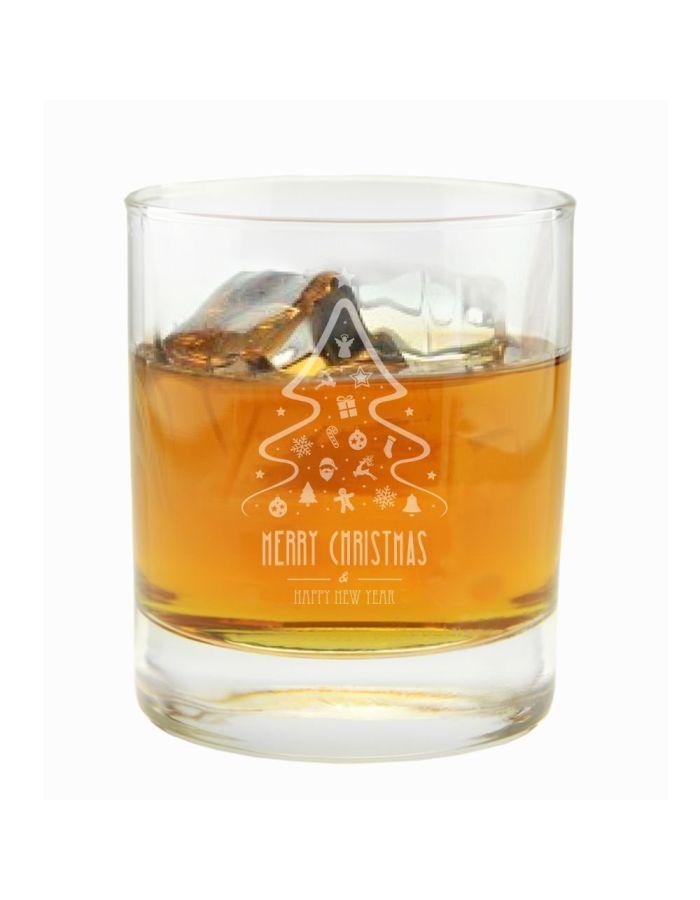 "Whiskyglas ""Merry Christmas"" (Tannenbaum)"