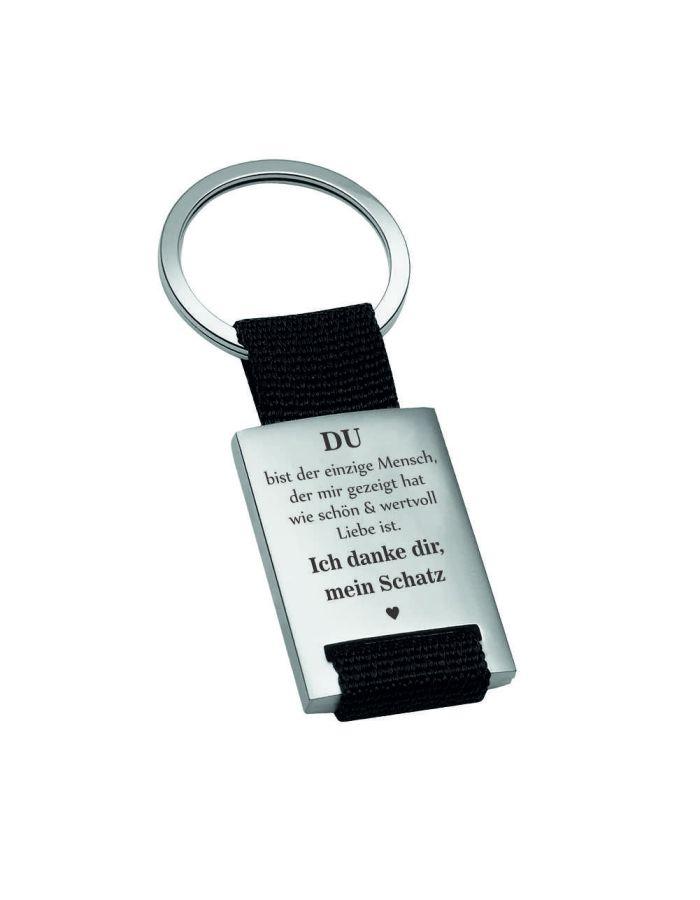 """Metall-Schlüsselanhänger """"Ich danke dir, mein Schatz"""""""
