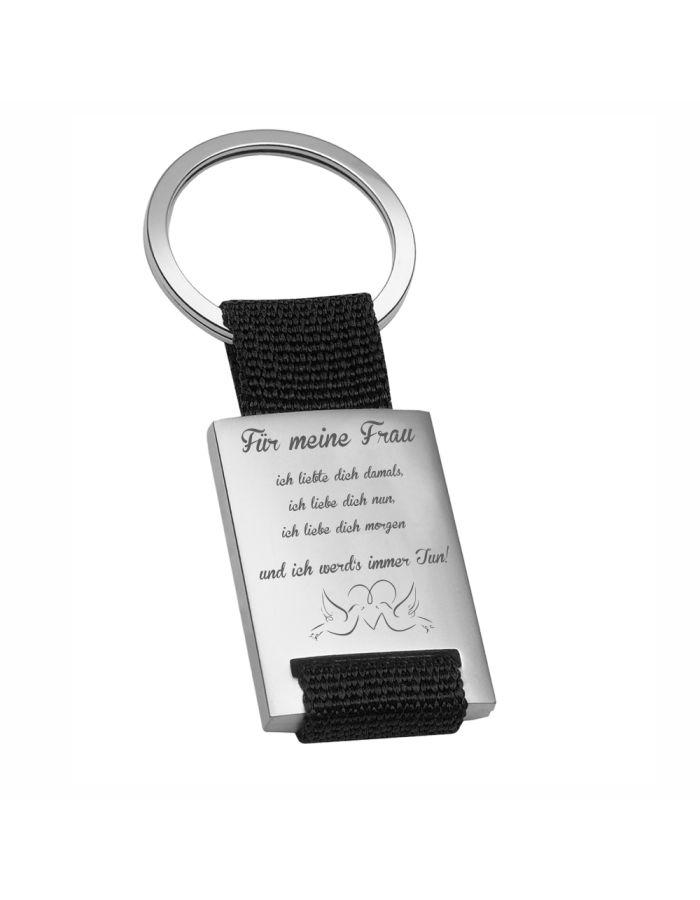 """Metall-Schlüsselanhänger """"Für meine Frau"""""""
