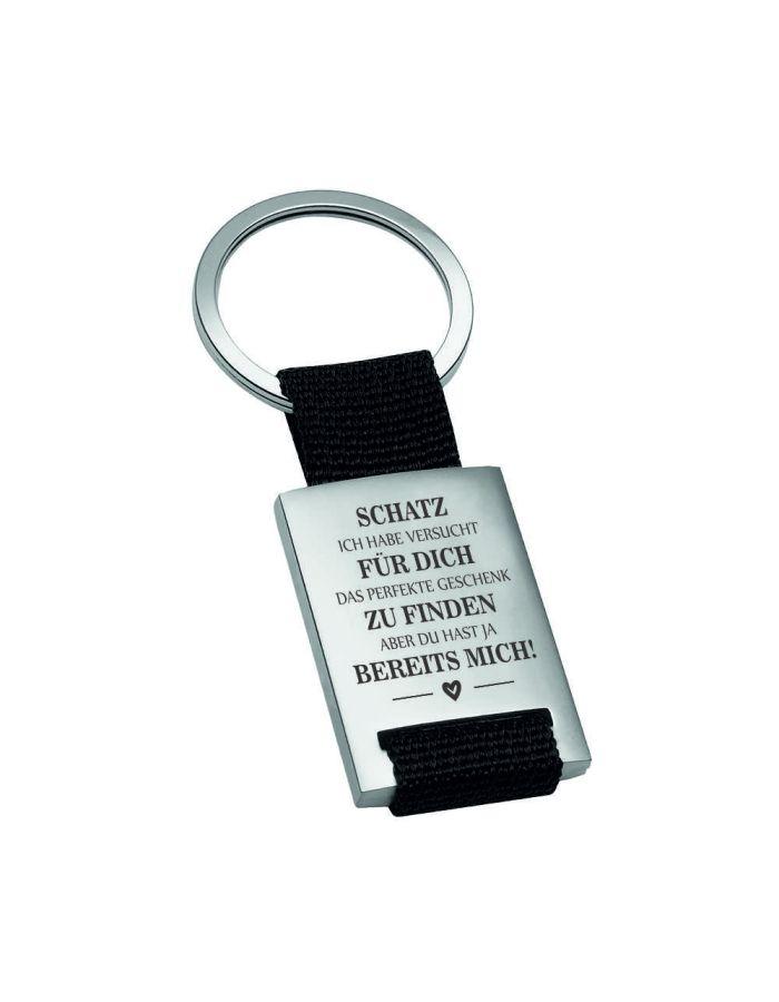 "Metall-Schlüsselanhänger ""Das perfekte Geschenk"""