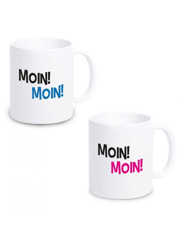 """Tasse """"Moin Moin"""" (Design: pink oder blau)"""
