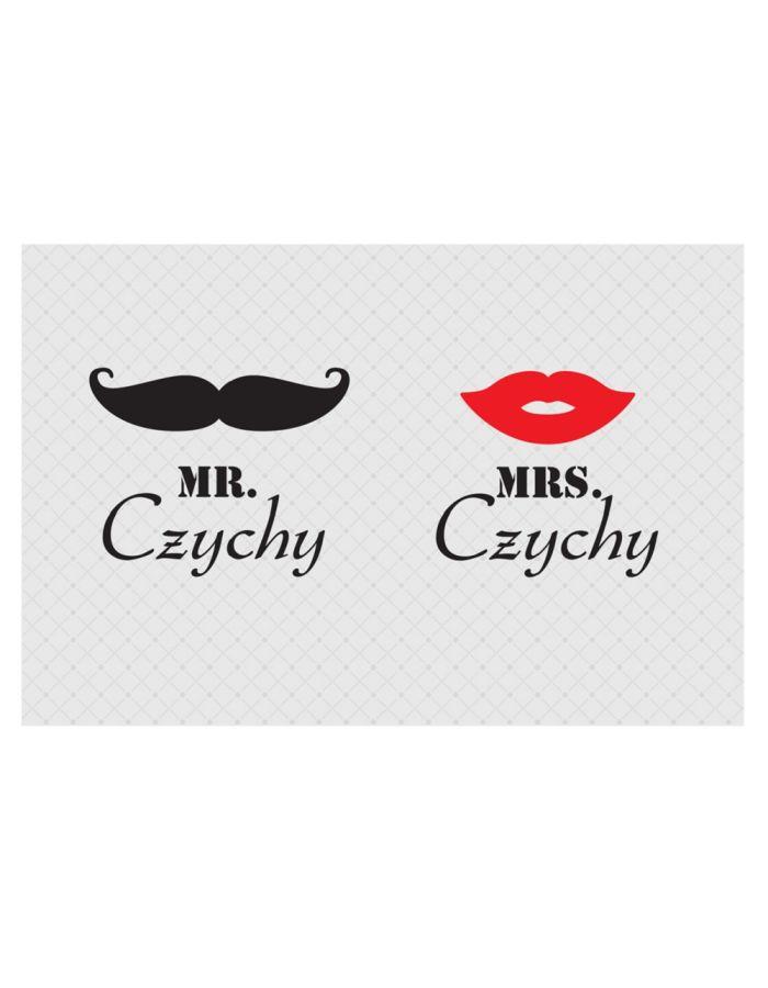 """Fußmatte """"Mr & Mrs"""" mit Familiennamen"""