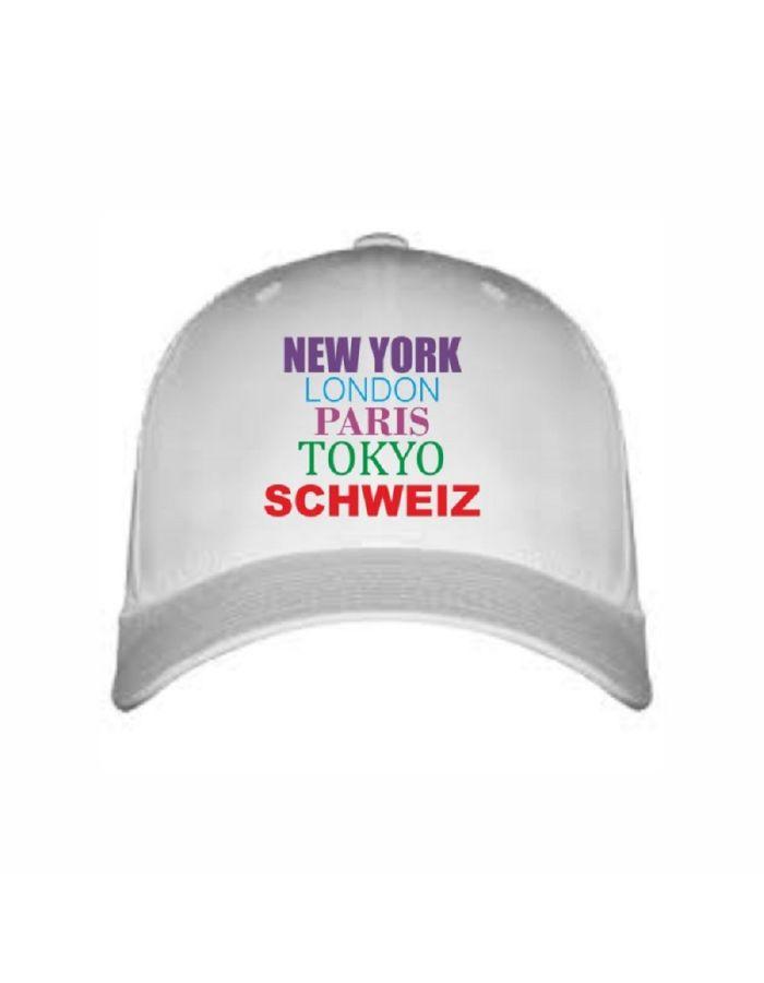 """Cap """"New York, London,  IHRE STADT"""" - personalisiert"""