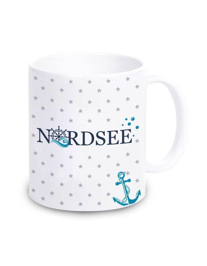 """Tasse """"Nordsee"""" mit kleinen Seesternen"""