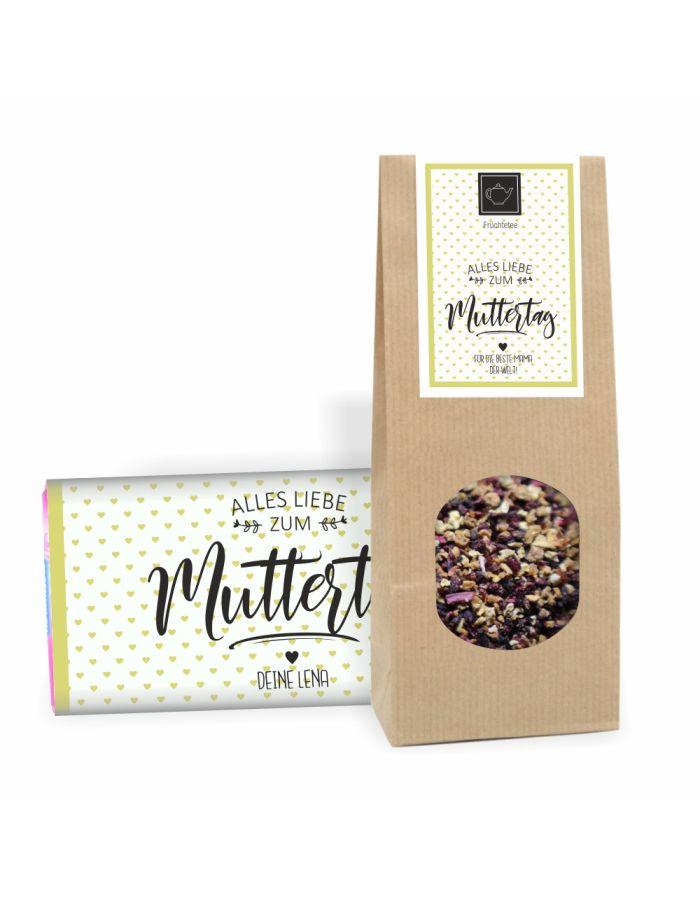 """Geschenkset """"Alles Liebe zum Muttertag"""" (Schokolade & Muttertags-Tee)"""