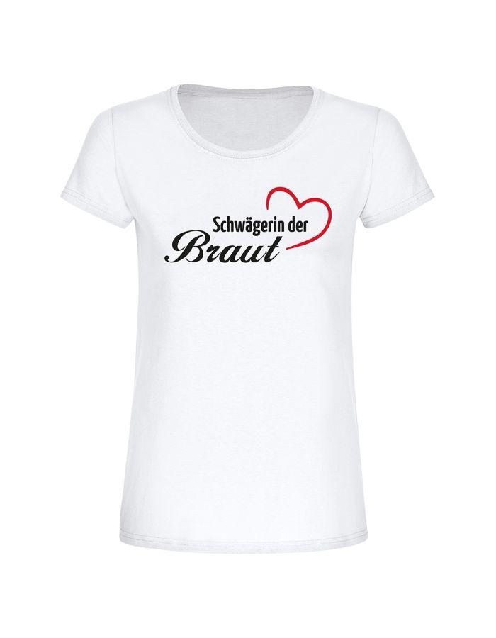 "T-Shirt ""Schwägerin der Braut"" - Damen"