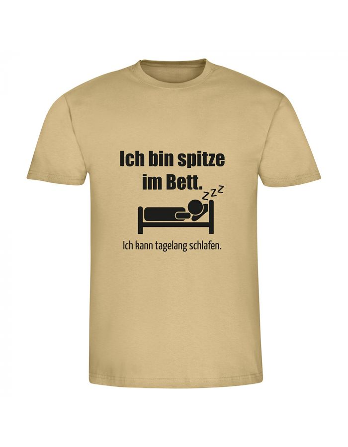 """T-Shirt """"Ich bin spitze im Bett"""" - Herren"""