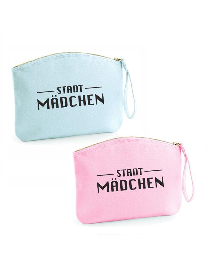 """Kulturtasche """"Stadtmädchen"""" (Farbe: rosa oder hellblau)"""