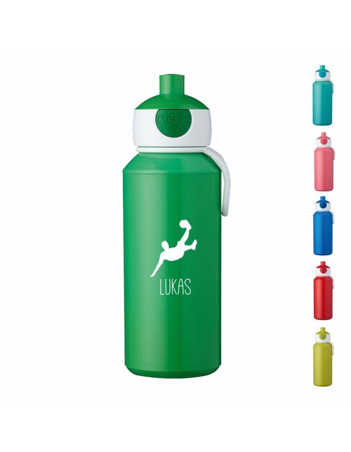 """Trinkflasche """"Fußballer Silhouette"""" - personalisiert"""