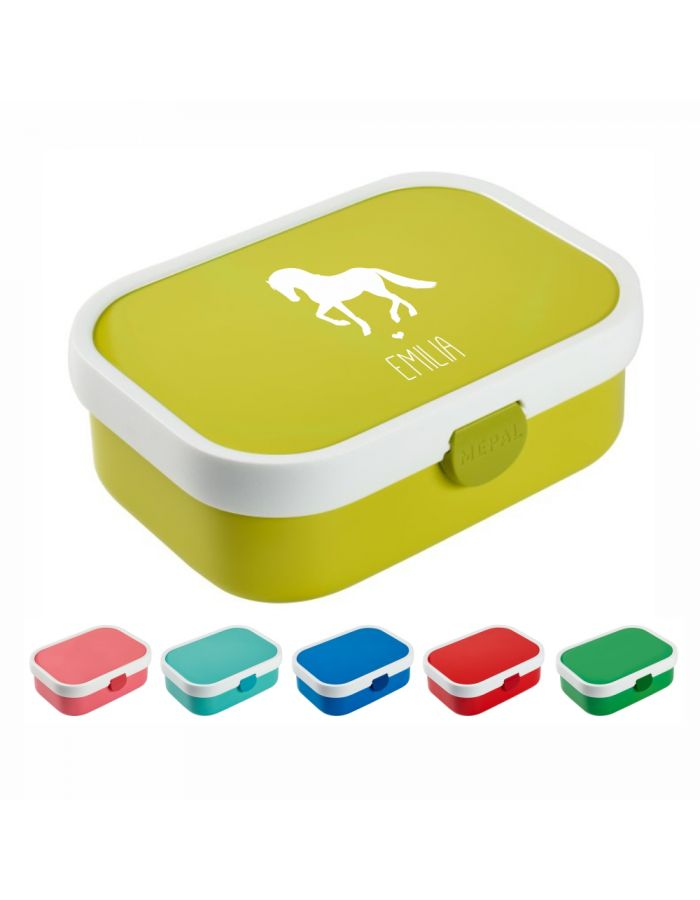"Brotdose ""Pferd Silhouette"" - personalisiert"