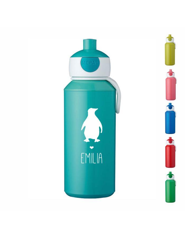 "Trinkflasche ""Pinguin Silhouette"" - personalisiert"