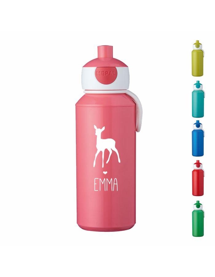 """Trinkflasche """"Reh Silhouette"""" - personalisiert"""