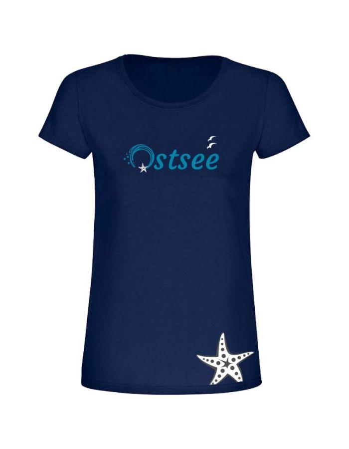 """T-Shirt """"Ostsee + Seestern"""" - Damen"""