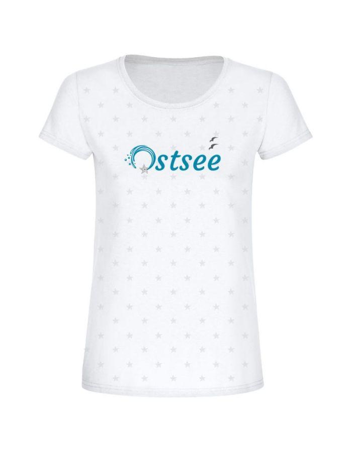 """T-Shirt """"Ostsee + kleine Seesterne"""" - Damen"""