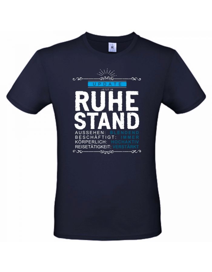 "T-Shirt ""Update - Jetzt im Ruhestand!"""