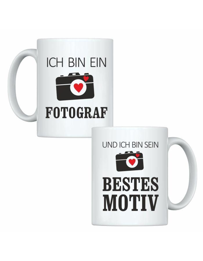 """Tassen-Set """"Ich bin ein Fotograf"""" & """"Und ich bin sein bestes Motiv"""""""