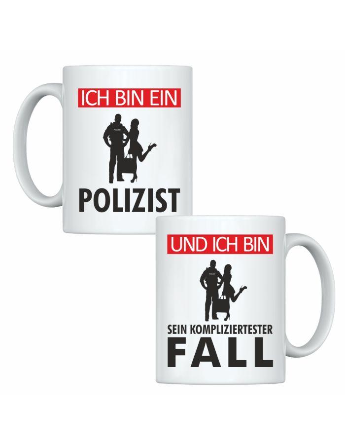 """Tassen-Set """"Ich bin ein Polizist"""" & """"Und ich bin sein kompliziertester Fall"""""""