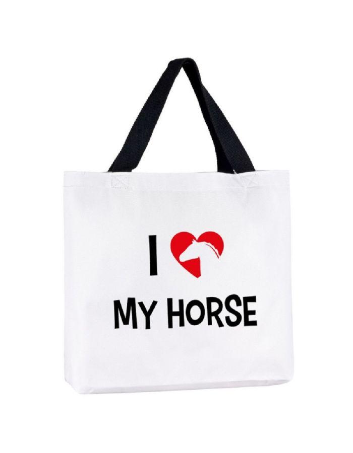 """Tragetasche """"I love my horse"""""""