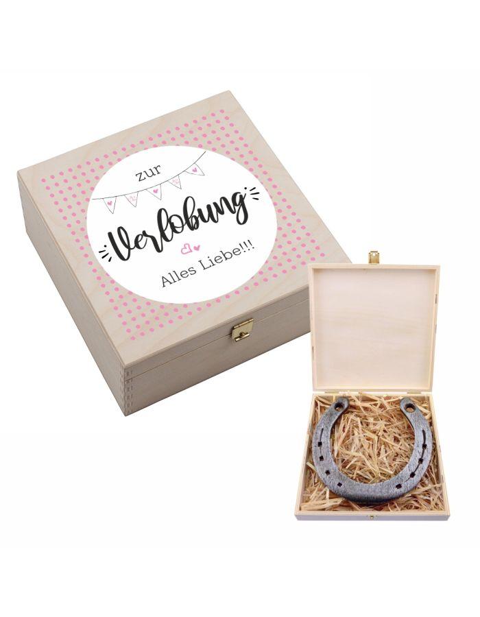 """Hufeisen-Box """"Zur Verlobung alles Liebe"""""""