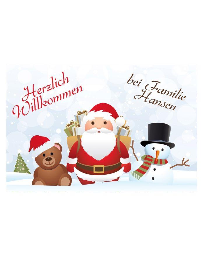"""Fußmatte """"Weihnachten"""" mit Familiennamen"""