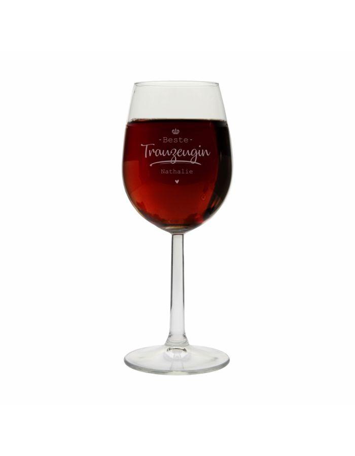 """Personalisiertes Weinglas """"Beste Trauzeugin"""""""