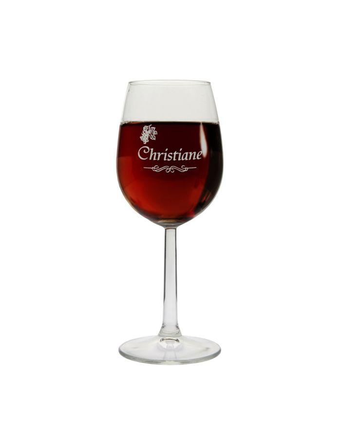 Weinglas mit Namen