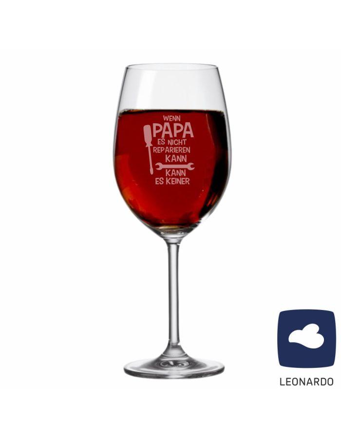 """XXL Leonardo Weinglas """"Wenn Papa es nicht reparieren kann, kann es keiner!"""""""