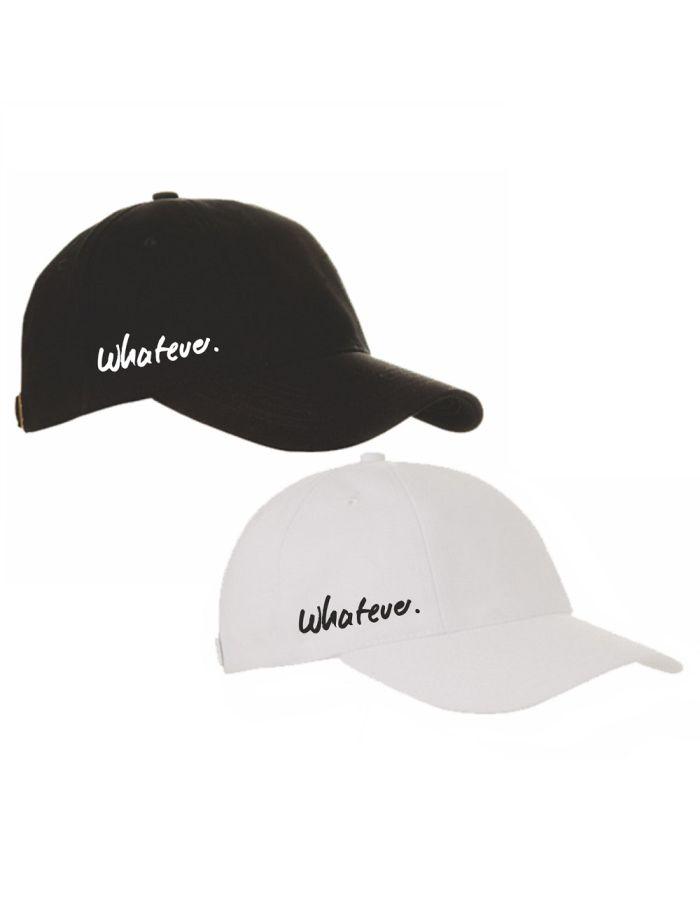 """Cap """"whatever."""" (Farbe: schwarz und weiß)"""