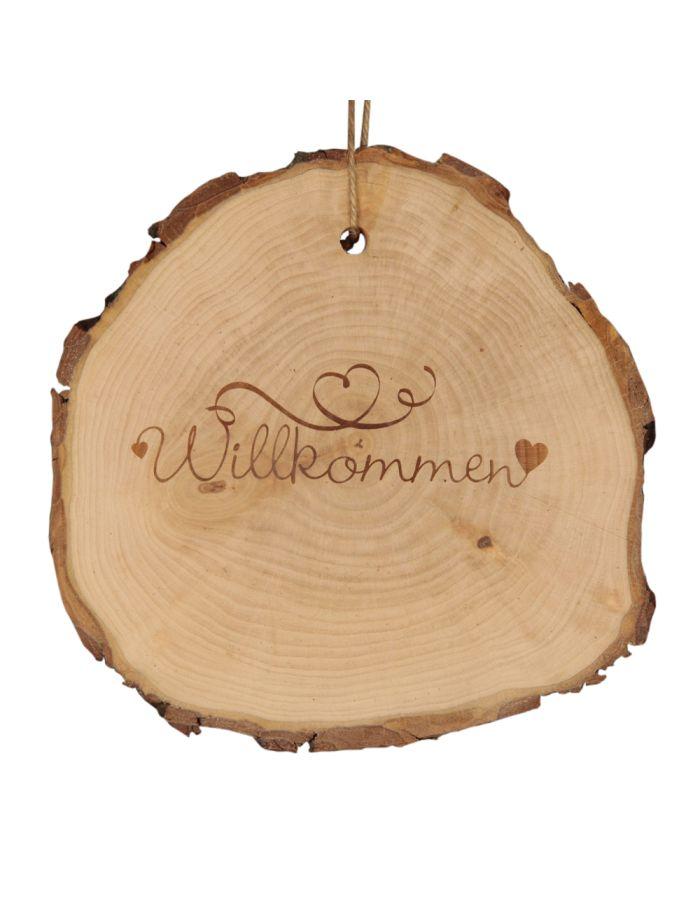 """Baumscheibe """"Willkommen ♥"""""""
