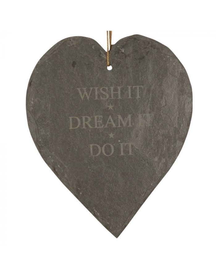 "Schieferherz ""WISH IT★ DREAM IT ★ DO IT"""