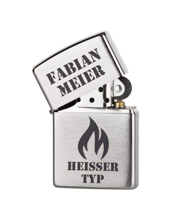 """Personalisiertes Zippo Feuerzeug """"Heißer Typ"""""""